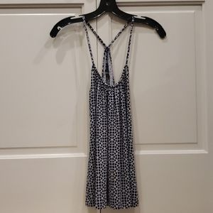 Tart blue/navy and white top size small